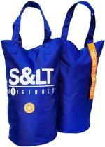 XXL Beachbag blauw - strandtas - shopper - sauna tas