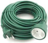 Verlengsnoer - 2 x 1.0 mm2 - 20 meter - Groen
