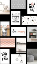 Multifotolijst 13 Foto's - Collage Fotolijst - Fotoformaat 10x15cm - Zwart