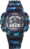 Fako Bijoux® - Horloge - Honhx Camouflage XL - Zwart