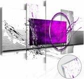 Afbeelding op acrylglas - Abstract in paars,  5luik