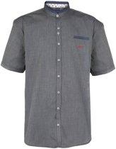 Grote Maat :Dario Beltran Overhemd korte mouw Ostra grijs 5XL