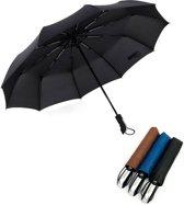 Storm Paraplu Opvouwbaar   Automatisch Uitklapbaar   Zwarte Paraplu   Zak Paraplu   Ø 105   Windproof 100km/u   10-Panelen Sterk