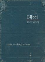 Bijbel met uitleg - blauw - hardcover - klein