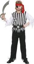 Piraat & Viking Kostuum   Piraten Jongen Rafelig Galei Kostuum   Maat 128   Carnaval kostuum   Verkleedkleding