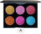 Palet glitter oogschaduw multicolor