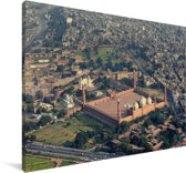 Luchtfoto van Lahore Canvas 180x120 cm - Foto print op Canvas schilderij (Wanddecoratie woonkamer / slaapkamer) XXL / Groot formaat!