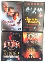 DVD Set - 4 Stuks - Garden of Evil, Jackie Brown, Pet Semetery/Stephen King, Ripper-Letter from Hell
