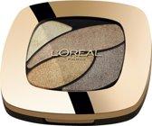 L'Oréal Paris Color Riche Les Ombres Quad - E1 Beige Trench - Brown - Oogschaduw