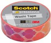 Scotch Expressions tape 15 mm x 10 m sunset