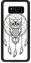 Galaxy S8 Plus Hardcase Hoesje Dream Owl Mandala Black