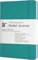 Hieroglyphs Bullet Journal - 100 grams papier - harde kaft - met Handleiding en Inspiratie - Nederlands - blauw - lichtblauw