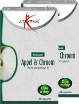 NuSlank Appel & Chroom - 48 capsules - Voedingssupplement