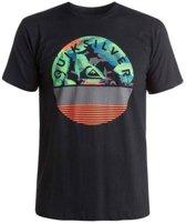 Quiksilver T-shirt Classic Extinguished Heren - Zwart