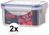 2x stuks Thermos airtight vershoud doosjes/bakjes van 440 ml