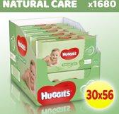 Huggies billendoekjes Natural Care - Voordeelverakking 30 Pakken