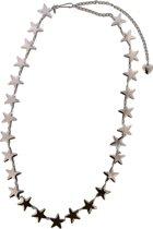 Chain Belt met Sterren - Tailleriem / Heupriem - Metaal - Lengte Verstelbaar 80-100 cm - Zilverkleurig - Dielay