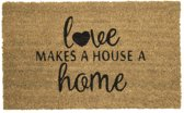 Mars & More - Kokosmat - Deurmat - Love Makes A Home A House - 45x73cm