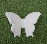 Vlinder (2x)Tuinbeeld > set van 2 stuks --kan opgehangen worden aan muur- leuk voor binnen of buiten op te hangen.