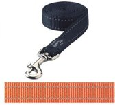 Rogz For Dogs Fanbelt Hondenriem - Oranje - 20 mm x 1.4 mtr