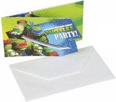 Ninja Turtles Uitnodigingen - 6 stuks