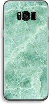 Samsung Galaxy S8 Transparant Hoesje (Soft) - Groen marmer