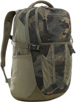 The North Face Recon Rugtas Burnt Olive Green Waxed Camo Print/ Burnt Olive