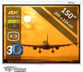 """Manueel Projectiescherm - 150"""" (380 cm) - 299 x 224 cm - 4:3 - beamer scherm"""