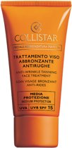 Collistar Antiwrinkle Tanning Face Treatment Factor - SPF 15 - 50 ml - Zonnebrandcrème