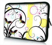 Laptophoes 13,3 artistiek vlinder design - Sleevy