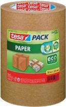 4x Tesa verpakkingsplakband Paper, 50mmx50 m, papier, bruin, pak a 3 stuks