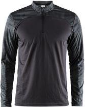 Craft Eaze Ls Tee Sportshirt Heren - Black/Black Melange