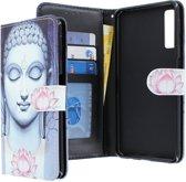 Samsung Galaxy A7 2018 hoesje - CaseBoutique - Boeddha print - Kunstleer
