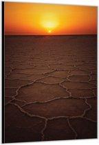 Dibond –Zonsondergang – 80x120cm Foto op Aluminium (Wanddecoratie van metaal)