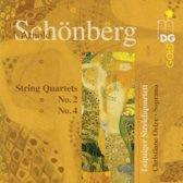 Schoenberg: String Quartets no 2 & 4 /Oelze, Leipzig Quartet