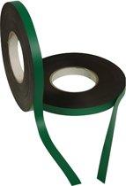 Magneetband kleur Groen 15mm op rol 5 meter