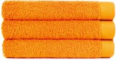 Handdoek 50x100 cm Uni Pure Royal Oranje - 4 stuks