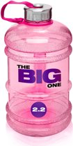 #DoYourFitness - Sportdrankfles - »TheBigOne« - waterfles / watercan van tritan materiaal - 2,2 Liter - roze