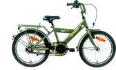 Kinderfiets Bike Fun Camouflage 12 inch kaki/groen
