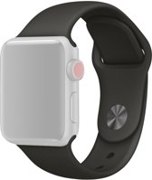 Apple Watch Siliconen Bandje Geschikt voor Apple Watch 1 / 2 / 3 / 4 / 5 - 38MM / 40MM  Zwart / Black  Premium kwaliteit  Single Revet  TrendParts