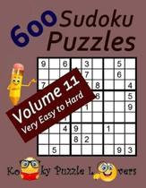 600 Sudoku Puzzles, Volume 11