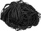 1 kg - Elastiek - zwart - diameter 80mm - breedte 1,5mm - in zak