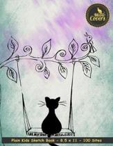 Meow Covers Plain Kids Sketch Book - 8.5 X 11 - 100 Sites