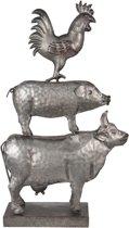 Decoratie dieren 25*8*41 cm Grijs | 6Y2935 | Clayre & Eef