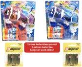 Bellenblaas pistool met licht&geluid (2 stuks ) + gratis 6st. batterijen|Fish