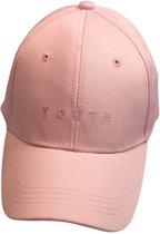 Youth casual baseball cap in de kleur zacht roze