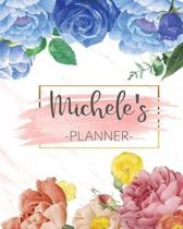 Michele's Planner: Monthly Planner 3 Years January - December 2020-2022 - Monthly View - Calendar Views Floral Cover - Sunday start