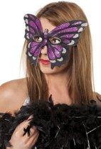 Feestbeest.nl Masker vlinder groot roze
