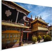 Voorkant van de Jokhang-tempel Tibet Plexiglas 90x60 cm - Foto print op Glas (Plexiglas wanddecoratie)