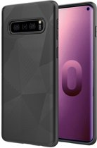 Samsung Galaxy S10 Hoesje Magic Triangle Back Cover Zwart Premium Shockproof Case